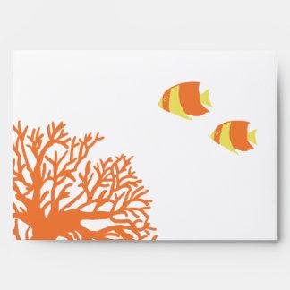 Coral tropical anaranjado y amarillo