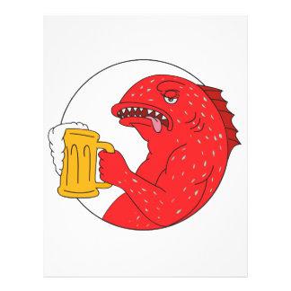 Coral Trout Beer Mug Circle Drawing Letterhead