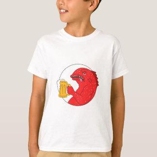 Coral Trout Beer Mug Circle Drawing T-Shirt
