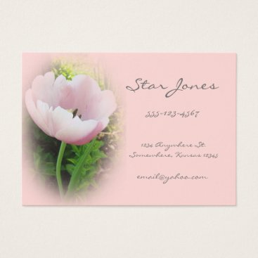 Professional Business Coral Tulip Business Card