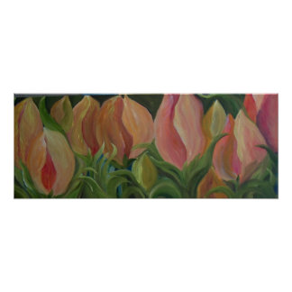 CORAL TULIPS POSTER