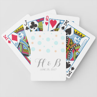 Coral Turquoise Confetti Playing Cards