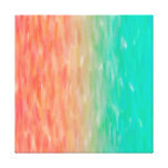 Coral & Turquoise Ombre Watercolor Teal Orange Canvas Print