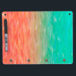"""Coral &amp; Turquoise Ombre Watercolor Teal Orange Dry Erase Board With Keychain Holder<br><div class=""""desc"""">Check out www.zazzle.com/Sweetbriar_Drive for so many other beautiful styles,  items &amp; colors! &#169; SweetbriarDrive 2014. Do not copy.</div>"""