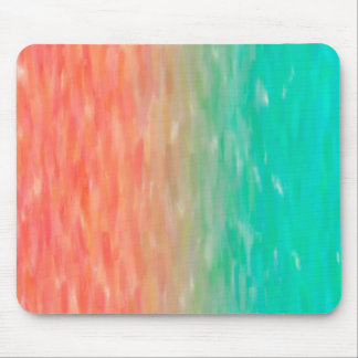 Coral & Turquoise Ombre Watercolor Teal Orange Mouse Pad