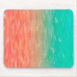 Coral & Turquoise Ombre Watercolor Teal Orange Mousepad
