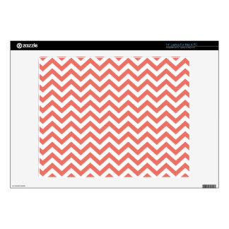 Coral Unicolor Chevron Pattern  GPB01C Decals For Laptops