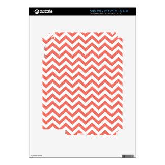 Coral Unicolor Chevron Pattern  GPB01C iPad 3 Skins