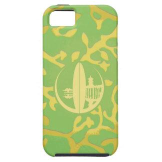 Coral verde claro y amarillo iPhone 5 Case-Mate cobertura