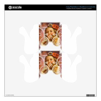 Coral Victorian Girl Cat Hug Love PS3 Controller Skins