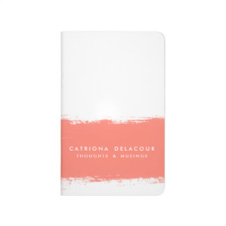 Coral Watercolor Splash Personalized Journal