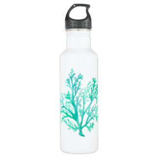 Coral Watercolor Water Bottle