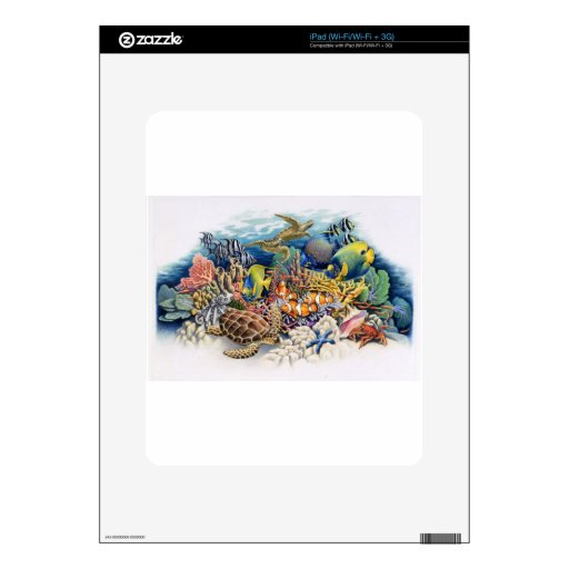 Coral Waters With Tropical Fish Skin For The iPad