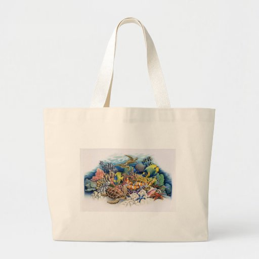 Coral Waters With Tropical Fish Tote Bag
