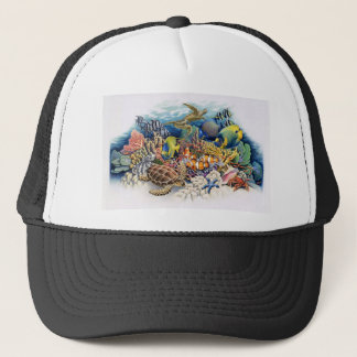 Coral Waters With Tropical Fish Trucker Hat