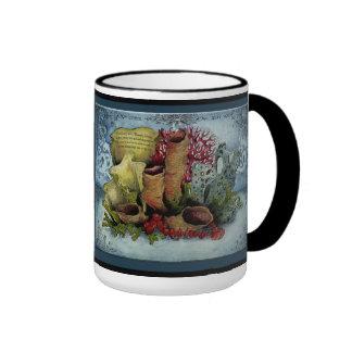 Coral Wedding Anniversary: Jupigio-Artwork.com Ringer Coffee Mug