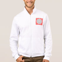 Coral White Anchors Pattern, Gary Monogram Jacket