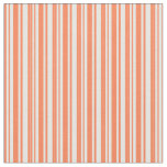 [ Thumbnail: Coral & White Lines Fabric ]