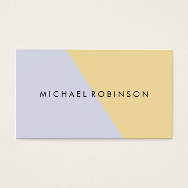 Professional Business Coral white Modern Faux Geometric color block Business Card