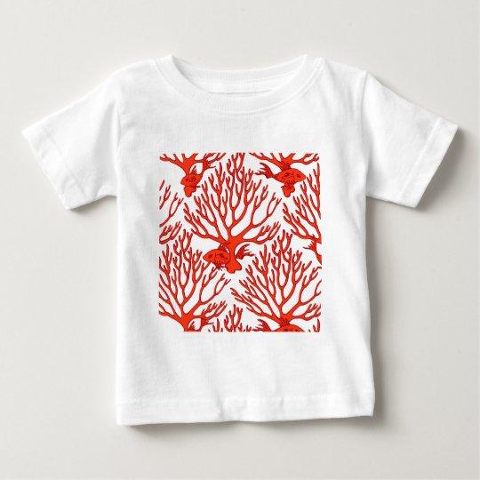 CORAL_white_orange Baby T-Shirt