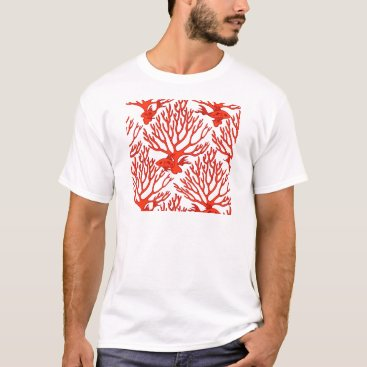 Beach Themed CORAL_white_orange T-Shirt