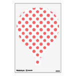 Coral White Polka Dots Pattern Room Sticker