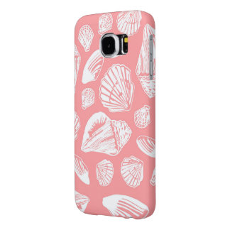 Coral & White Seashells Samsung Galaxy S6 Case