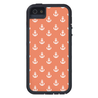 Coral White Ships Anchors Pattern iPhone 5 Cover
