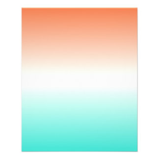 Coral White Turquoise Ombre Flyer