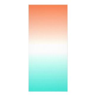 Coral White Turquoise Ombre Rack Card