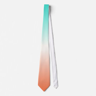 Coral White Turquoise Ombre Tie