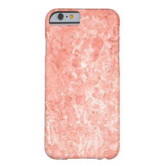 Coral wink watercolor floral barely there iPhone 6 case