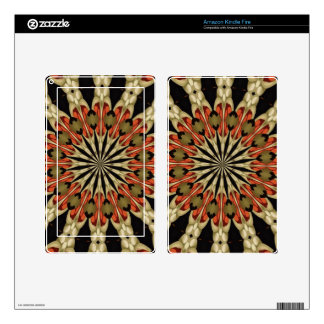 Coral With Coffee and Cream Mandala Kindle Fire Skin