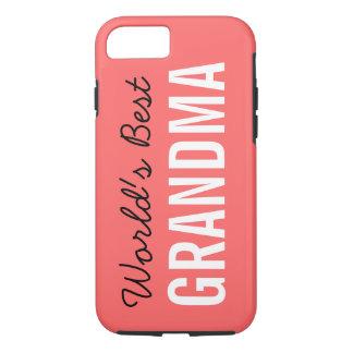 Coral World's Best Grandma Custom iPhone 7 iPhone 8/7 Case
