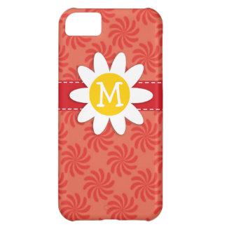 Coral y remolino rojo; Flor de la primavera Funda Para iPhone 5C