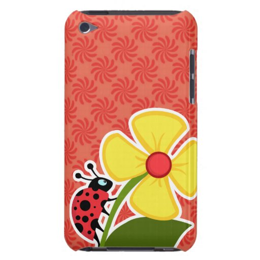 Coral y remolino rojo; Mariquita iPod Touch Case-Mate Cobertura