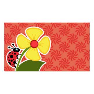 Coral y remolino rojo; Mariquita Tarjetas De Visita