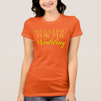 Coral & Yellow Sweating For The Wedding. Singlet T-Shirt