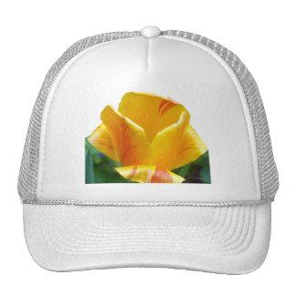 Coral Yellow Tulip Trucker Hat