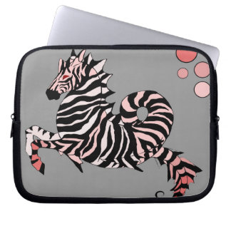Coral Zebra Seahorse Laptop Computer Sleeve