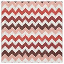coral zigzag chevron pattern fabric