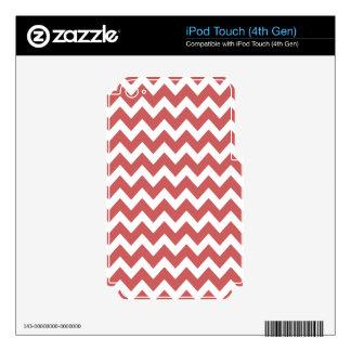 Coral Zigzag Chevron Stripes iPod Touch 4G Skins