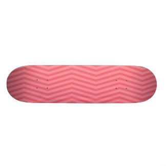 Coral Zigzag Skateboard