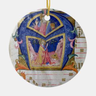 Corale / Graduale no.5  Historiated initial 'A' de Ceramic Ornament