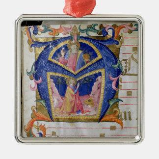 Corale / Graduale no.5  Historiated initial 'A' de Metal Ornament
