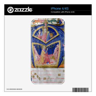 Corale / Graduale no.5  Historiated initial 'A' de Skins For The iPhone 4