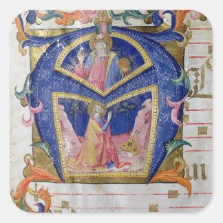 Corale / Graduale no.5  Historiated initial 'A' de Square Sticker