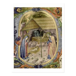 Corale / Graduale no.5  Historiated initial 'P' de Postcard