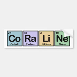 Bumper Sticker with Coraline made of Elements design