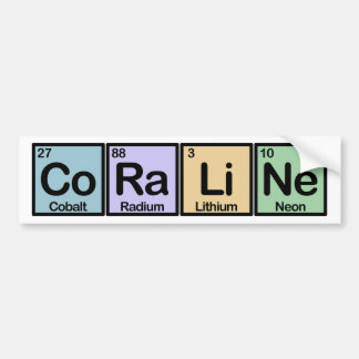 Coraline made of Elements Bumper Sticker